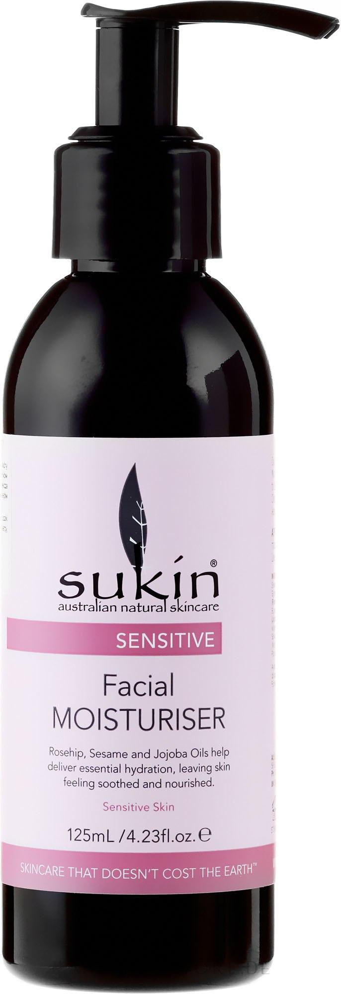 Gessichtscreme - Sukin Sensitive Facial Moisturiser — Bild 125 ml