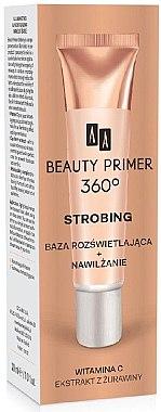 Feuchtigkeitsspendender aufhellender Primer mit Vitamin C und Extrakt aus Preiselbeeren - AA Cosmetics Strobing Beauty Primer 360 — Bild N1