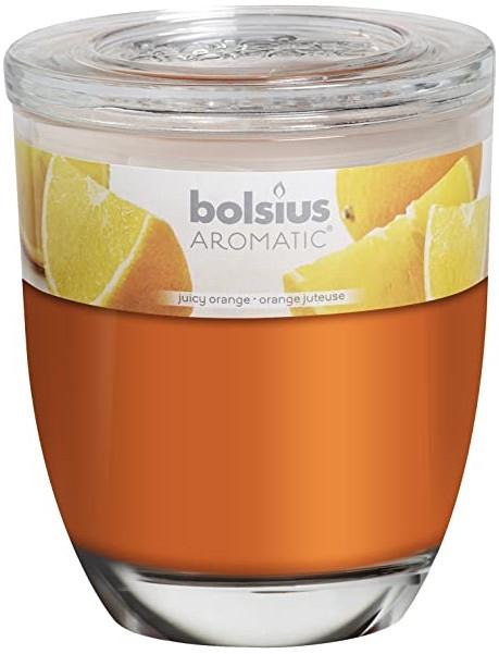 Duftkerze im Glas Juicy Orange - Bolsius Aromatic 120 mm x Ø100 mm — Bild N1
