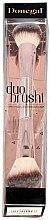 Düfte, Parfümerie und Kosmetik Doppelseitiger Highlighter und Puderpinsel 4204 - Donegal Duo Brushi