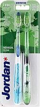 Düfte, Parfümerie und Kosmetik Zahnbürste mittel Individual Clean blau, grün 2 St. - Jordan Individual Clean Medium