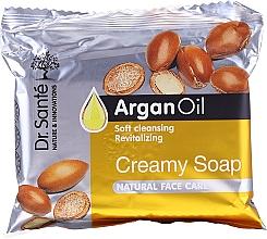Düfte, Parfümerie und Kosmetik Revitalisierende Cremeseife für das Gesicht mit Arganöl - Dr.Sante Cream Soap