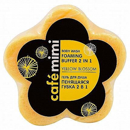 2in1 Duschgel-Schaumschwamm Gelbe Blüte - Cafe Mimi Body Wash Foaming Buffer 2 in 1 Yellow Blossom — Bild N1