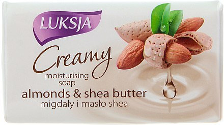 Feuchtigkeitsspendende Cremeseife mit Mandeln und Sheabutter - Luksja Creamy Almond Shea Butt Soap — Bild N1