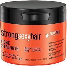 Düfte, Parfümerie und Kosmetik Regenerierende Haarmaske mit Aloe Vera und Mangobutter - SexyHair StrongSexyHair Core Strength Nourishing Anti-Breakage Masque