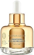 Düfte, Parfümerie und Kosmetik Stärkendes Anti-Aging Hals- und Gesichtsserum mit schwarzem Kaviar und sibirischem Gold - Natura Siberica Caviar Gold