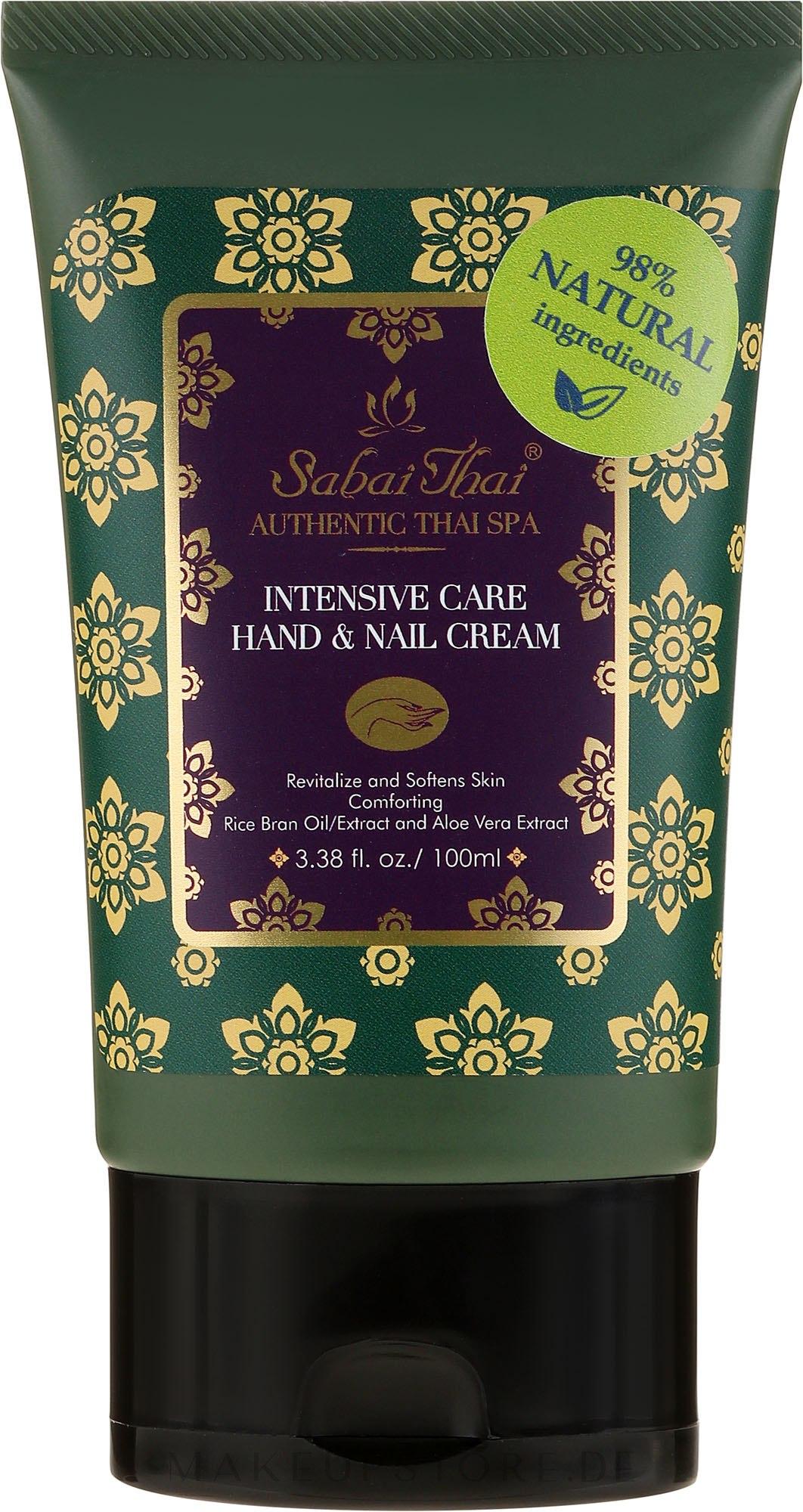 Intensiv pflegende Hand- und Nagelcreme mit Reiskleieöl und Aloe vera - Sabai Thai Intensive Care Rice Milk Hand & Nail Cream — Bild 100 ml