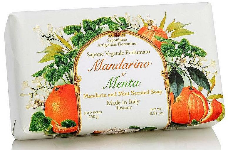 Naturseife mit Mandarine und Minze - Saponificio Artigianale Fiorentino Tangerine & Mint Soap — Bild N1