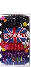 Düfte, Parfümerie und Kosmetik Haargummis Farb-Mix 6 St. №12 - Ronney Professional Funny Ring Bubble 12