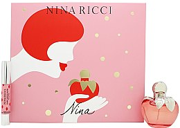 Düfte, Parfümerie und Kosmetik Nina Ricci Nina - Duftset (Eau de Toilette 50ml + Lippenstift 2.5g)