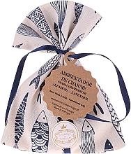 Düfte, Parfümerie und Kosmetik Handgemachtes Duftsäckchen mit Seife und Sardinen-Muster Lavendel - Essencias De Portugal Tradition Charm Air Freshener
