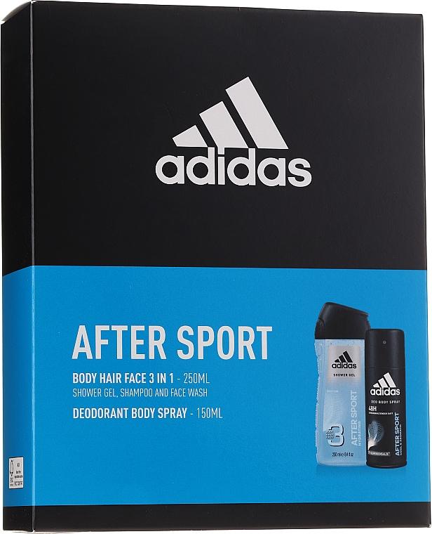 Körperpflegeset - Adidas After Sport (Deospray 150ml + Duschgel 250ml) — Bild N1