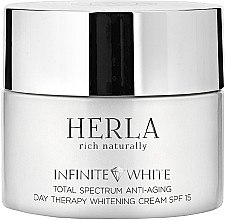 Düfte, Parfümerie und Kosmetik Bleichende Anti-Aging Tagescreme SPF 15 - Herla Infinite White Total Spectrum Anti-Aging Day Therapy Whitening Cream SPF 15