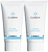 Düfte, Parfümerie und Kosmetik Körperpflegeset - Clarena Body Advanced Lafayette (Duschgel 30ml + Körpercreme 30ml)