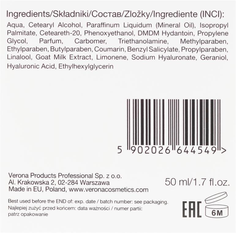Feuchtigkeitsspendende Gesichtscreme mit Ziegenmilch - Vollare Cosmetics Hyaluron Moisturizing Face Cream — Bild N3