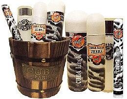 Düfte, Parfümerie und Kosmetik Cuba Jungle Zebra - Duftset (Eau de Parfum 100ml + Deodorant 200ml + Körperlotion 120ml + Eau de Parfum 35ml)