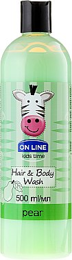 "On Line Kids Time Hair & Body Wash Pear - Shampoo & Duschgel für Kinder ""Birne"" — Bild N1"
