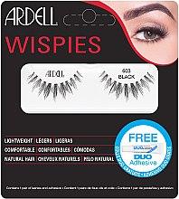 Düfte, Parfümerie und Kosmetik Set Künstliche Wimpern und Wimpernkleber - Ardell Wispies 603 Black
