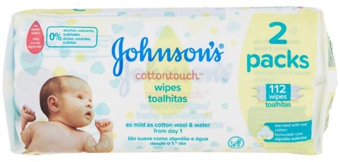 Extra weiche Feuchttücher für Babys Duopack - Johnson's Baby Cotton Touch — Bild N1