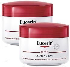 Düfte, Parfümerie und Kosmetik Gesichts- und Körperpflegeset - Eucerin pH5 (Gesichts- und Körpercreme 2x75ml)
