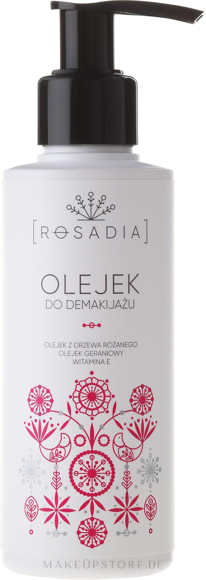 Rosadia - Sanftes Make-up Reinigungsöl mit Rosenbaum- und Geranienöl und Vitamin E — Bild 150 ml