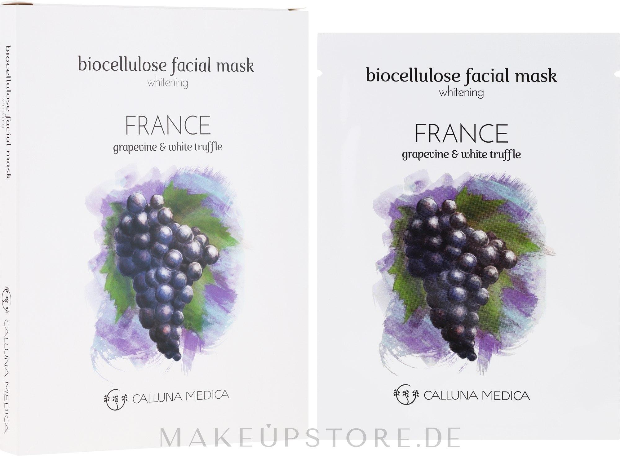 Aufhellende Tuchmaske für das Gesicht Frankreich - Calluna Medica France Whitening Biocellulose Facial Mask — Bild 12 ml