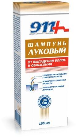 Shampoo mit Zwiebel gegen Haarausfall und Kahlheit - 911 — Bild N1