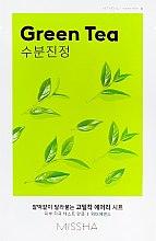 Düfte, Parfümerie und Kosmetik Erfrischende Tuchmaske für das Gesicht mit grünem Tee - Missha Airy Fit Green Tea Sheet Mask