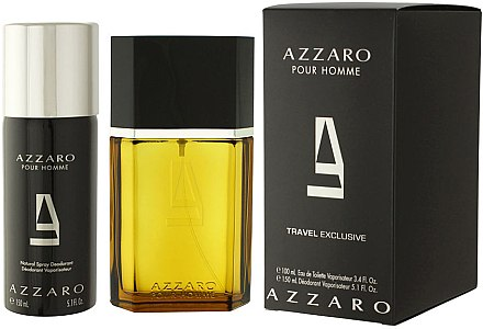 Azzaro Pour Homme Travel - Duftset (Eau de Toilette 100ml + Deodorant Spray 150ml) — Bild N1