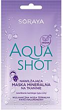 Düfte, Parfümerie und Kosmetik Feuchtigkeitsspendende mineralische Tuchmaske mit Thermalwasser und Hyaluronsäure - Soraya Aquashot