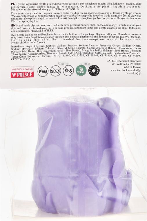 Handgemachte Naturseife Rose mit Lavendelduft - LaQ Happy Soaps Natural Soap — Bild N3