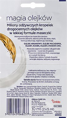 Gesichtsmaske - Soraya Magic Of Oils Intensively Nourishing Oil Mask — Bild N2