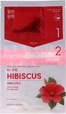 Tuchmaske mit Hibiskusextrakt - Holika Holika Brewing Tea Bag Mask Hibiscus — Bild N1