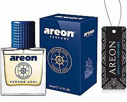 Düfte, Parfümerie und Kosmetik Autoparfüm - Areon Luxury Car Perfume Long Lasting Air Freshener Verano Azul