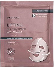Lifting-Tuchmaske mit Calamin - BeautyPro Lifting 3D Clay Mask with Calamine — Bild N1