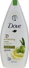 Düfte, Parfümerie und Kosmetik Feuchtigkeitsspendendes und pflegendes Duschgel mit Olivenöl - Dove Protect Care Body Wash