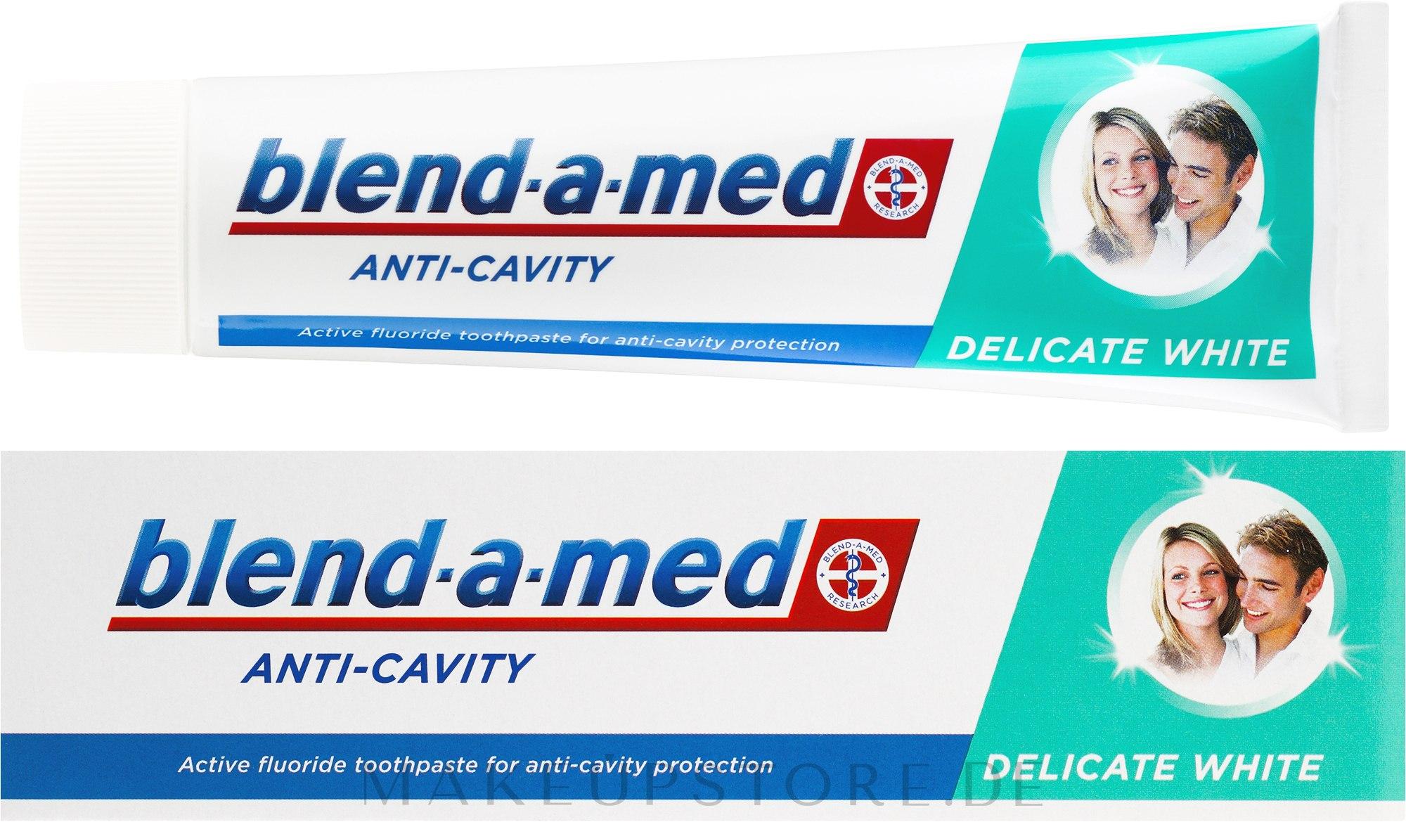 Zahnpasta Anti-Cavity Delicate White - Blend-a-med Anti-Cavity Delicate White — Bild 100 ml