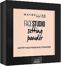 Düfte, Parfümerie und Kosmetik Mattierender Fixierpuder - Maybelline Facestudio Setting Powder