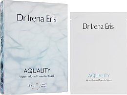 Düfte, Parfümerie und Kosmetik Feuchtigkeitsspendende und verjüngende Tuchmaske für das Gesicht - Dr. Irena Eris Aquality Water-Infused Essential Mask