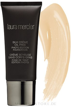 Feuchtigkeitsspendende Grundierung - Laura Mercier Silk Creme Moisturizing Photo Edition Foundation — Bild Medium Ivory