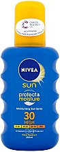 Düfte, Parfümerie und Kosmetik Sonnenspray - Nivea Sun Protect and Moisture Moisturising Sun Spray SPF 30
