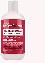 Düfte, Parfümerie und Kosmetik Feuctigkeitsspendendes Shampoo und Conditioner für Bart und Schnurrbart - Recipe for Men Beard Shampoo & Conditioner