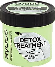 Düfte, Parfümerie und Kosmetik Entgiftende Haar- und Kopfhautmaske mit Tonerde - Syoss Detox Treatment Clay