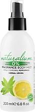 Düfte, Parfümerie und Kosmetik Parfümiertes Körperspray mit Minze- und Zitronenduft - Naturalium Herbal Lemon Body Mist