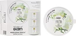 Düfte, Parfümerie und Kosmetik Soja-Duftkerze Freesia Alba - House of Glam Raw White Collection Freesia Alba Candle