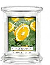 Düfte, Parfümerie und Kosmetik Duftkerze im Glas Citrus And Sage - Kringle Candle Citrus And Sage
