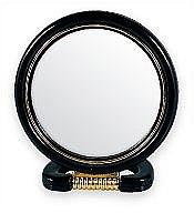 Düfte, Parfümerie und Kosmetik Kosmetikspiegel mit Ständer 5022 schwarz - Top Choice