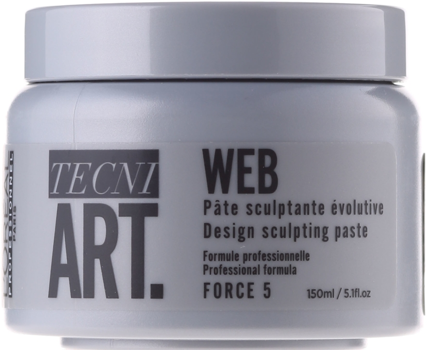 Modellierende Haarpaste für mehr Glanz - L'Oreal Professionnel Tecni.art A-Head Web Force 5 — Bild N1