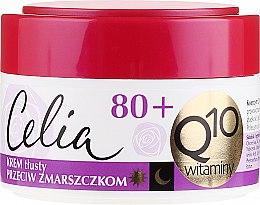 Düfte, Parfümerie und Kosmetik Fettige Anti-Falten Gesichtscreme mit Coenzym Q10 und Vitaminen 80+ - Celia Q10 Face Cream 80+