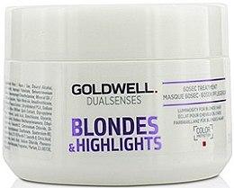 Düfte, Parfümerie und Kosmetik Haarmaske für blondes und gesträhntes Haar - Goldwell Dualsenses Blondes & Highlights 60sec Treatment